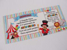 Convite Ingresso Circo - Charme Papeteria www.charmepapeteria.iluria.com