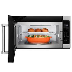 This high power, 1000-watt microwave oven features four sensor functions to assist you in the kitchen by automatically adjusting the time needed to cook, reheat or defrost without guesswork about power levels or cooking times. The interior's CookShield Finish wipes clean without harsh chemicals so it looks brighter longer while the exterior is a bold blend of professionally-inspired styling with sleek touches for the home.