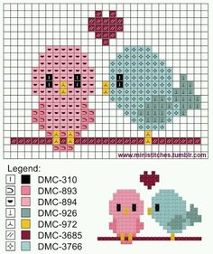 When the baby bird penned his first novel he was. (Plastic Canvas Creations) ministitches: When the baby bird penned his first novel he was.ministitches: When the baby bird penned his first novel he was. Tiny Cross Stitch, Cross Stitch Cards, Cross Stitch Animals, Counted Cross Stitch Patterns, Cross Stitch Designs, Cross Stitching, Cross Stitch Embroidery, Embroidery Patterns, Hand Embroidery