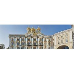 Panoramic Images PPI145802L Facade of Catherine Palace Tsarskoye Selo St. Petersburg Russia Poster Print by Panoramic Images - 36 x 12, As Shown