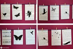 DIY Deko: Girlande aus bedruckten Buchseiten. Upcycel ein altes Buch und mach eine schöne Girlande für die Wand.
