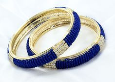Indian Bollywood style Bridal Collection Bangle/Bracelets Whit PEARL& STONES 2.8 #BDFJewellery