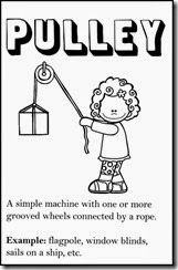 simple machine pulley page in free printable book
