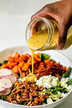 Shrimp Salad Recipes, Pasta Recipes, Real Food Recipes, Vegetarian Recipes, Cooking Recipes, Healthy Recipes, Recipes Dinner, Vegetarian Salad, Side Recipes