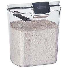 Progressive™ 5 lb. Flour Prokeeper in White/Grey   Bed Bath & Beyond Flour Storage Container, Sugar Container, Food Storage Containers, Kitchen Containers, Sugar Storage, Bread Storage, Baking Storage, Spice Storage, Unique Gadgets