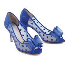 Charlotte Mills Belle Blue Wedding Shoes