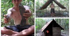 """Dentro de un canal llamado """"Tecnología Primitiva"""" podemos encontrar este video en el que un hombre que se encuentra en medio de la nada, en alguna selva del mundo se encarga de demostrarnos cómo es que se puede construir un lugar para vivir utilizando únicamente lo que nos provee la naturaleza."""