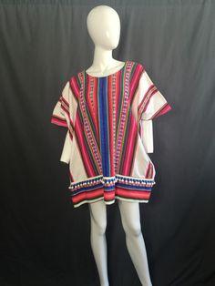 vtg 70s mexican serape navajo blanket caftan by ANIMALVINTAGE