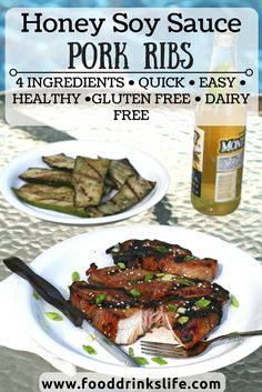 Honey Soy Sauce Pork Ribs | 4 ingredients and super easy!