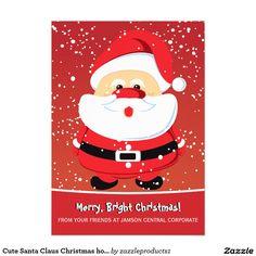 Cute Santa Claus Christmas holiday corporate 5x7 Paper Invitation Card