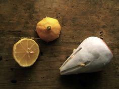 Citrus Juicer :: ceramic+glaze :: fits your palm :: juices sunshine :: rebbermade
