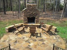 Outdoor Fireplace Room Archadeck of Charlotte | Decks, Screen ...