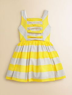 flower girl. Yellow and Gray Striped Dress | 41 Flower Girl Dresses That Are Better Than Grown-Up People Dresses