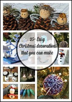 25+ Easy Christmas decorations that you can make to get into the Christmas spirit