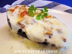 BERENJENAS RELLENAS DE CARNE CON BECHAMEL | Cocinar en casa es facilisimo.com