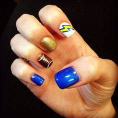 San Diego charger nails