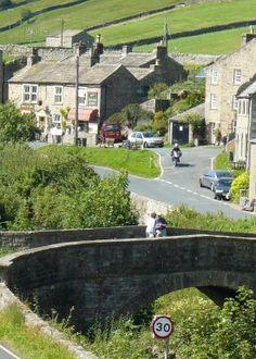 Muker village in Swaledale, Yorkshire, England