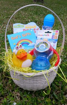 Mickey mouse clubhouse easter basket baby boy babys first easter babys first easter basket 20 ideas for baby easter basket negle Image collections