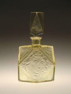 Bohemian Czech Citrine Glass Perfume Bottle Art Deco by Rudolf Hlousek | eBay