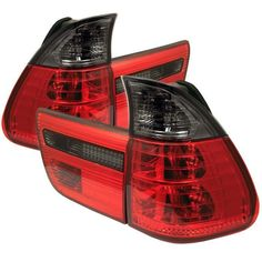 BMW E53 X5 00-06 4PCS Euro Style Tail Lights- Red Smoke