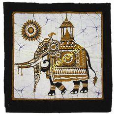 Batik Wall Hanging - Sacred Elephant