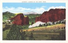 Vintage Colorado Postcard - Garden of the Gods and Pikes Peak (Unused)