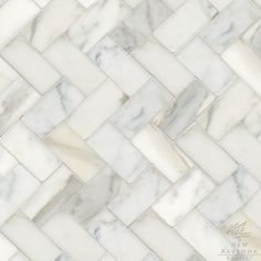 ...marble herring bone tile