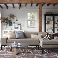 Room View: Cotton Basketweave, Dove Gray