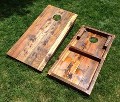 Items similar to Cornhole Game by ColoradoJoes Reclaimed (Repurposed) Wood Print on Etsy Diy Yard Games, Diy Games, Lawn Games, Backyard Games, Outdoor Games, Backyard Ideas, Diy Pallet Projects, Woodworking Projects, Pallet Ideas