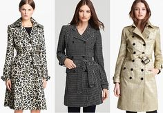 Trendy Pattern Trench Coats for Spring
