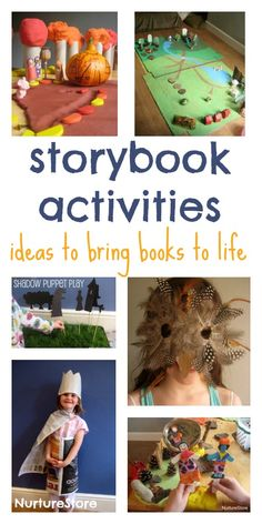 Storybook activities - reading activities, book crafts and play