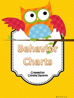 Use this behavior chart to keep track of your student's behavior for 6 weeks.See my coordinating Back-to-School Owls Theme....