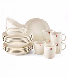 I love White Iittala Teema Kitchenware, Tableware, Marimekko, Nordic Style, Vintage Pottery, White Porcelain, Finland, Dinnerware, House Design