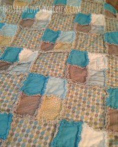 Baby Boy Blue - Rag Quilt for a Toddler #thissarahloves