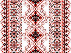 Ukrainian floral ornament on a white background Cross Stitch Needles, Cross Stitch Charts, Cross Stitch Designs, Cross Stitch Patterns, Tatting Patterns Free, Embroidery Patterns, Crochet Patterns, Cross Stitching, Cross Stitch Embroidery