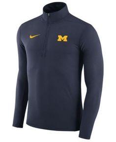 Nike Men s Michigan Wolverines Element Quarter-Zip Pullover - Blue XXL Iowa  State Cyclones 314e388f7