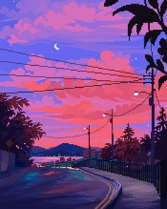 Media Tweets by Jubilee ❣️ (@16pxl) / Twitter Anime Scenery Wallpaper, Wallpaper Backgrounds, Aesthetic Backgrounds, Aesthetic Wallpapers, Art Vaporwave, Arte 8 Bits, Pixel Art Background, Cool Pixel Art, Vaporwave Wallpaper