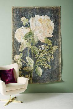 Anthropologie Sarita Floral Tapestry, boho bedroom