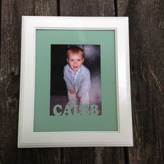 Personalized Baby Frame with Custom Matting Baby by WoodBeeLove