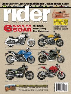 October 2012 Rider magazine cover.