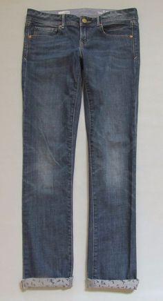 "Gap 1969 Jeans Real Straight 27 4 R Medium Stretch Denim Slim leg Low rise 32"" #GAP #StraightLeg"