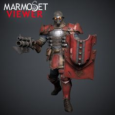Khador Faction Assault Kommando - Marmoset Viewer, Georgian Avasilcutei on ArtStation at https://www.artstation.com/artwork/khador-faction-assault-kommando-marmoset-viewer