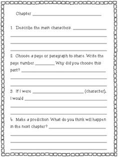 CREATIVE CHAPTER BOOK QUESTIONS ~ FOR READING GROUPS OR WORKSHOP - TeachersPayTeachers.com