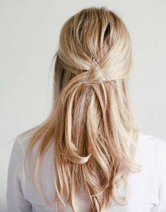 Gold  triange hair clip Metal Clip Minimalist Hair Clip