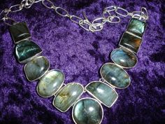 Labradorite Statement Bubble Necklace by SupplyWizard on Etsy, $45.00