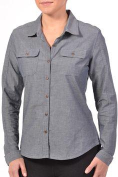 Gramicci Nadia Organic Chambray Button Down - Women's Button Downs, Button Down Shirt, Outdoor Woman, Chambray, Style Guides, Blues, Organic, Shirt Dress, Stylish
