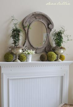 Living Room by Dear Lillie.the perfect solution for my ugly fireplace.thank you dearlillie! Faux Fireplace Mantels, Mantles, French Country Decorating, Country French, French Decor, Dear Lillie, Small Room Decor, Diy Home Decor, Wall Decor