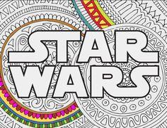 STAR WARS LOGO : Star Wars Zentangle doodle printable by INK88
