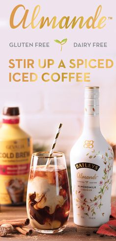 Stir up a Spiced Iced Coffee, a delicious drink any time of the year. This simple gluten-free and dairy-free Baileys Almande recipe is the perfect light-tasting winter treat. To make, mix 2 oz Baileys Almande, 1.5 oz Gevalia Coffee Cold Brew, and .5 oz cinnamon syrup over ice. Garnish with grated nutmeg sip on some of the most delicious flavors the season has to offer!