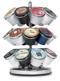 keurig k-cup carousel - We just got one of these from JCP for VIP hospitality in one of our branded motor coaches for a b-to-b marketing client.  Thanks JCP!